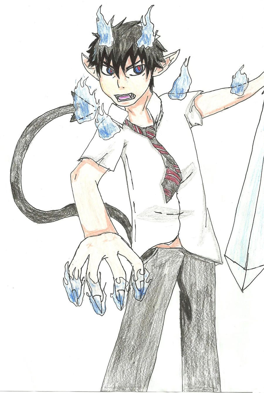 Anime Characters Named Rin : Blue exorcist rin by enter character name on deviantart