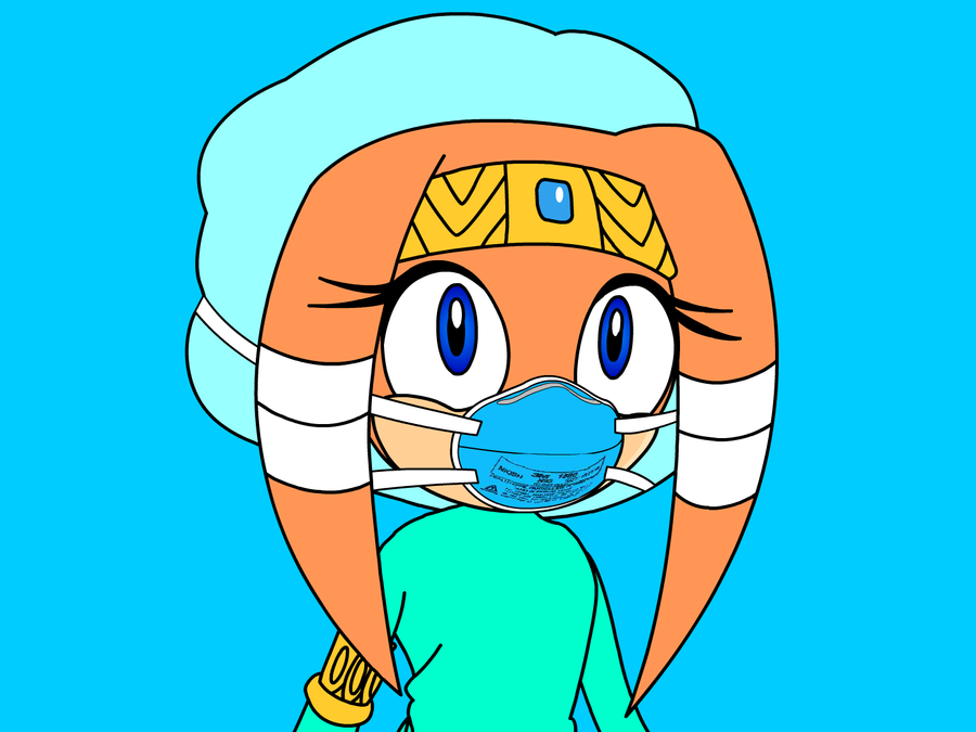 tikal the echidna in scrubs alt by staticthevixen on