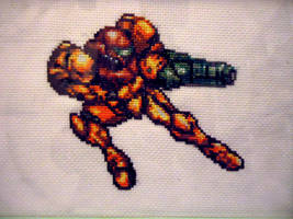 Cross stitch Samus by Miloceane
