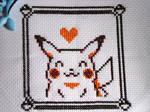 Cross stitch Yellow's Pikachu
