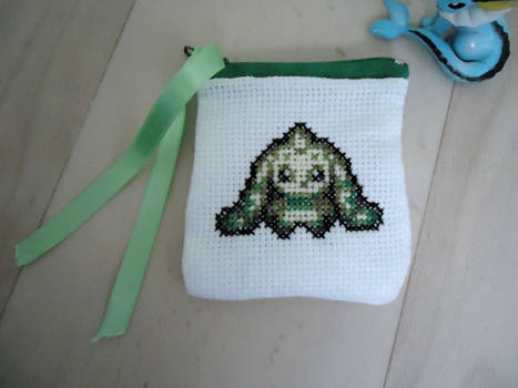 Cross stitch Terriermon purse