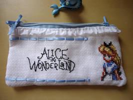 Cross stitch Alice in Wonderland pencil bag by Miloceane