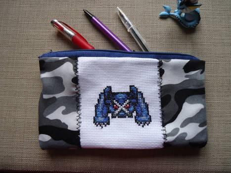 Cross stitch Metagross pencil case