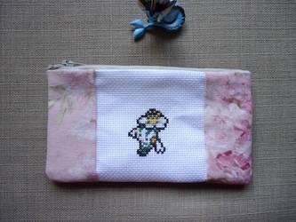 Cross stitch Floette pencil case by Miloceane