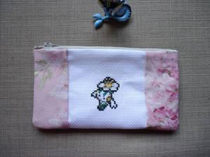 Cross stitch Floette pencil case