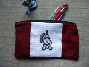 Cross stitch Absol pencil case