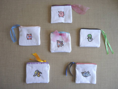 Fairy Pokemons pouches collection