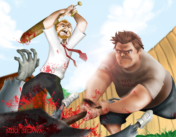 Shaun of the Dead by mikeysammiches