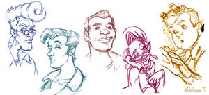 The Real Ghostbusters sketches