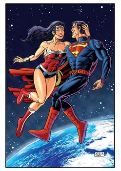 Superman Wonderwoman Cor Net