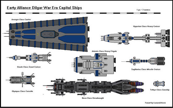 Dilgar War Earth Alliance Ships (Up-View)