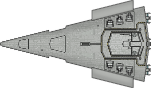 Victory I Class Star Destroyer Up-View