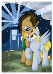 ~Dr.Whooves and Derpy at the night~