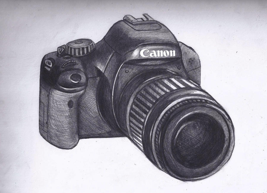 It's just an image of Geeky Canon Camera Drawing