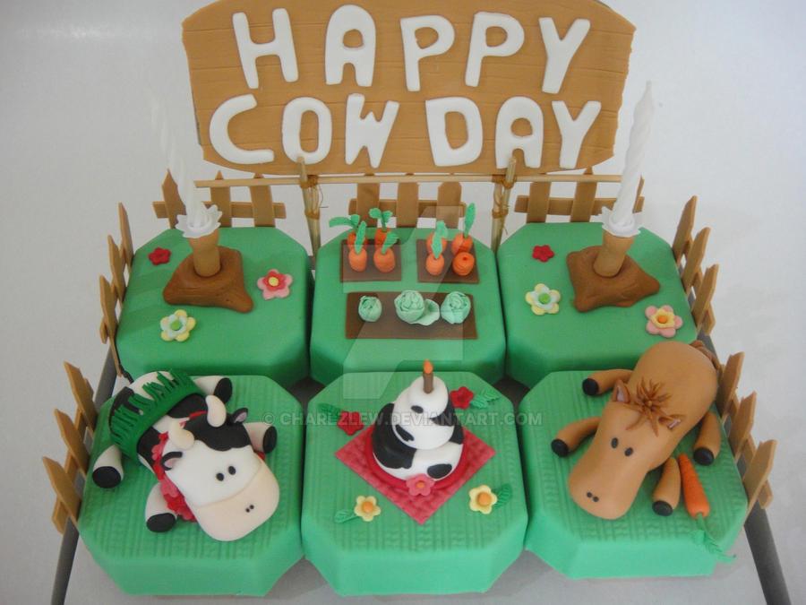 Cows Birthday Cake By Charlzlew On Deviantart
