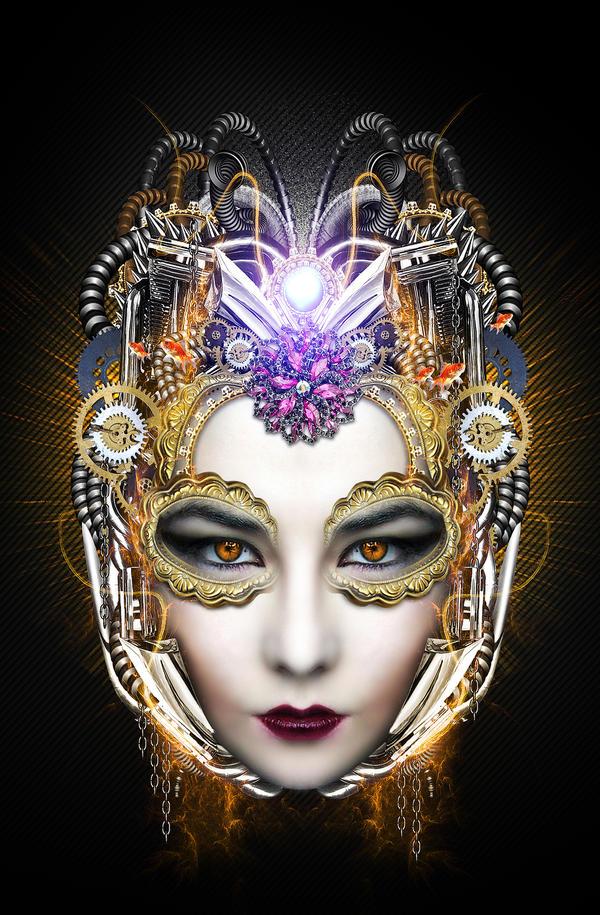 the beautiful mask by ideasignzampunk
