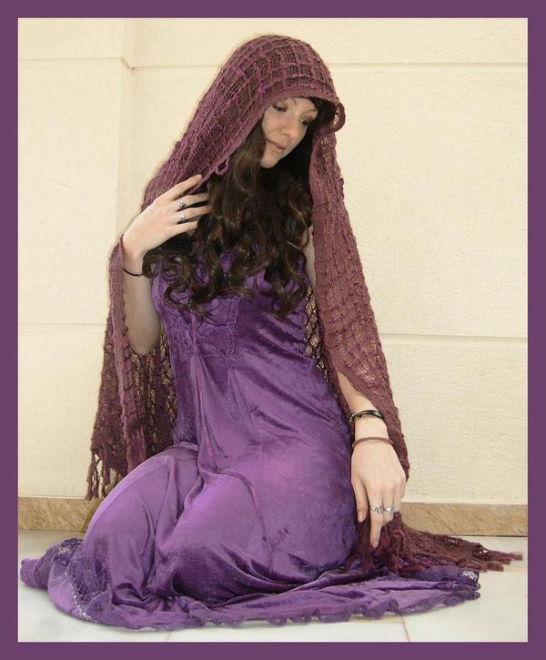 Purple Dress 1 by Lisajen-stock