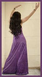Purple Dress 5 by Lisajen-stock