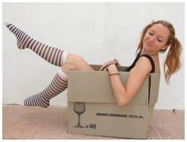 Jen in a Box by Lisajen-stock