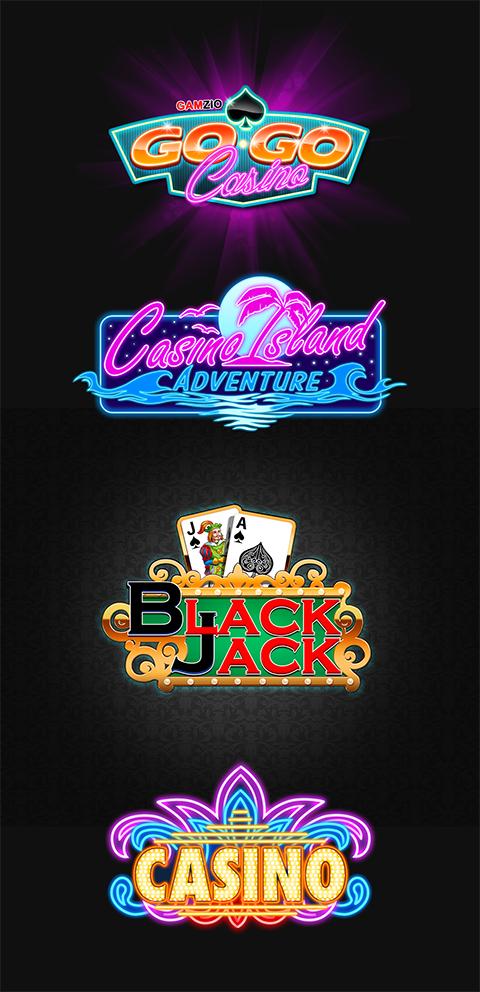 Casino logos by Konstantinart