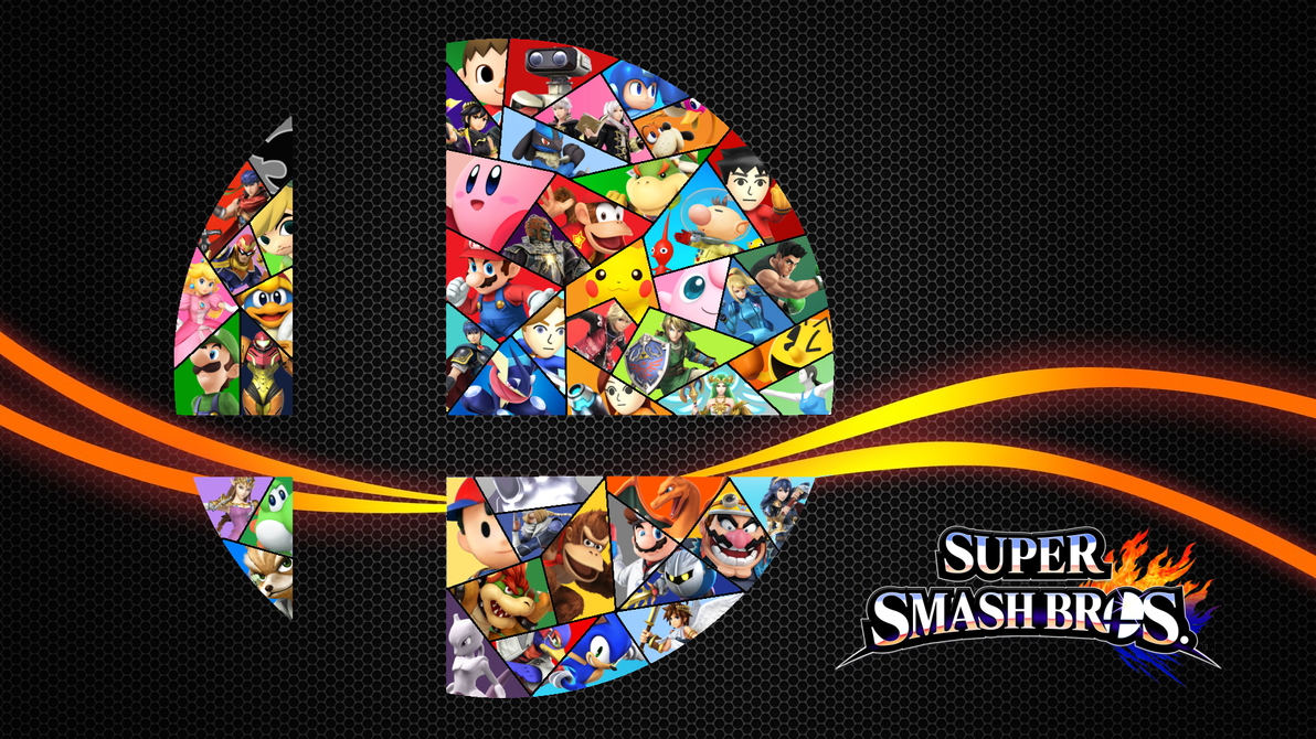Super Smash Bros 4 Stained Glass Logo By Leepiin
