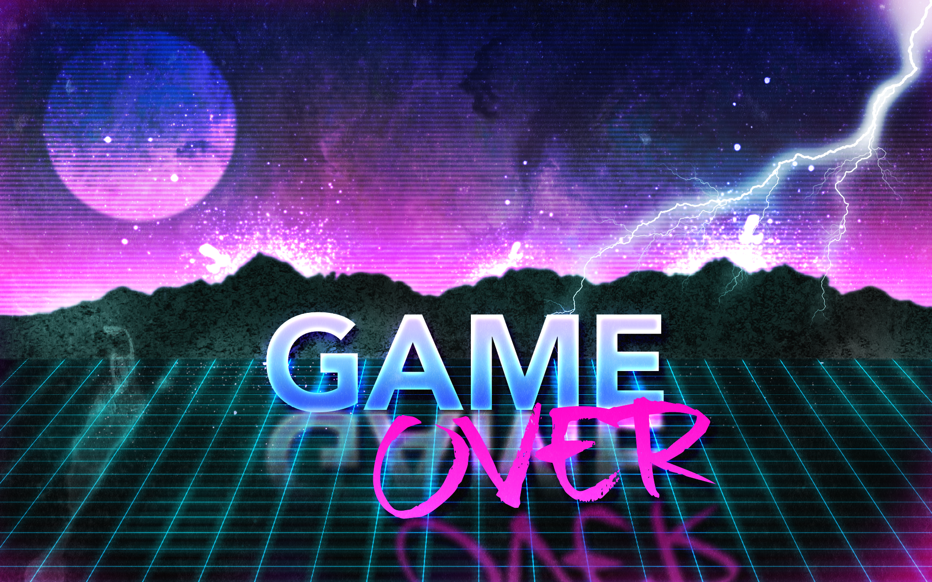 80s Retro Game Over Wallpaper By Leepiin On Deviantart HD Wallpapers Download Free Images Wallpaper [1000image.com]