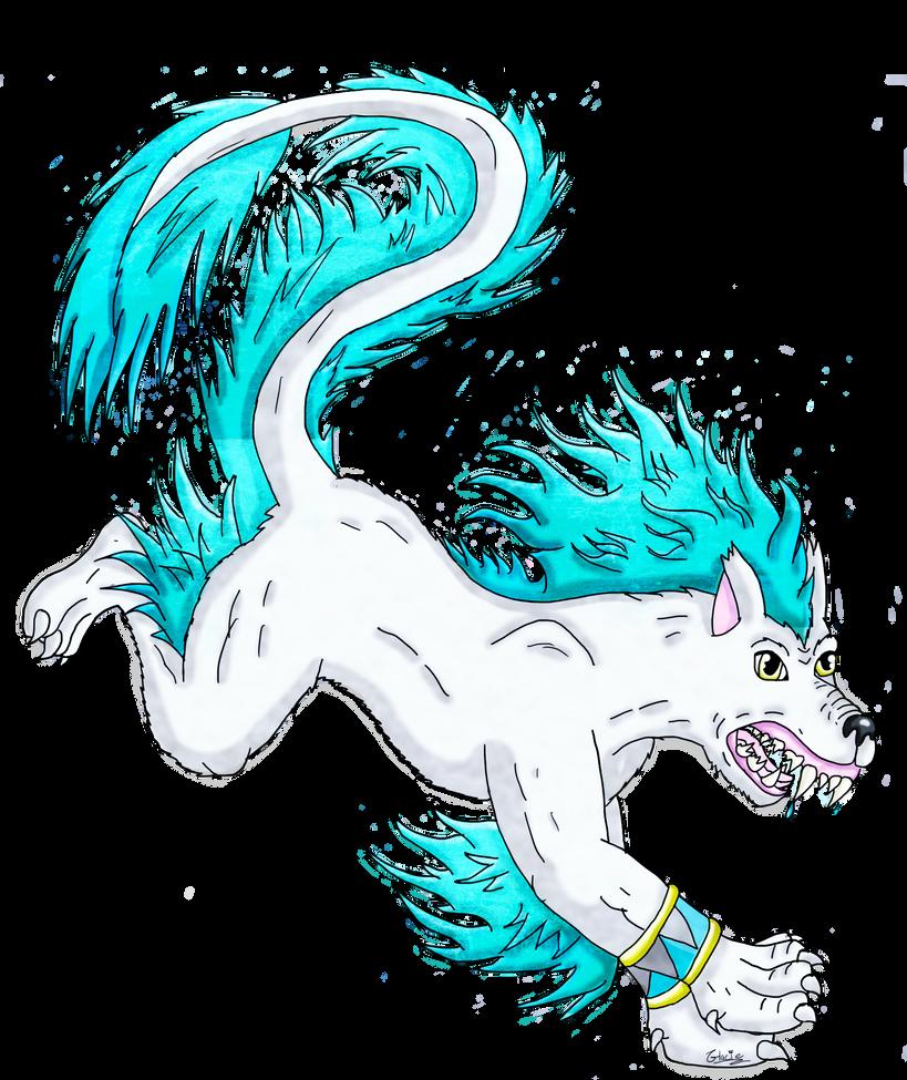 Fu Dog: Snowflake by glaciethewolf