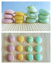 Four Sheets of Macarons