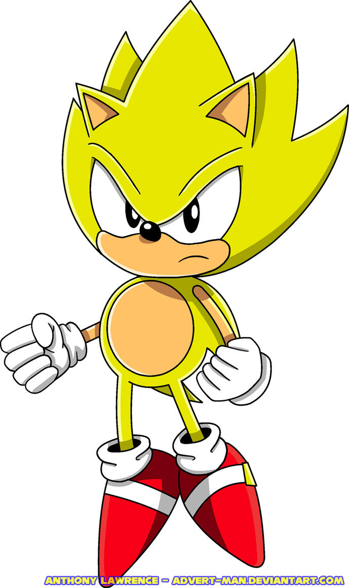classic super sonic by advertman on deviantart