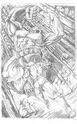 Hulk vs Wolverine by Theamat