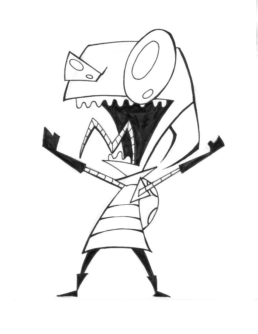 Invader zim by theamat on deviantart for Invader zim coloring pages online