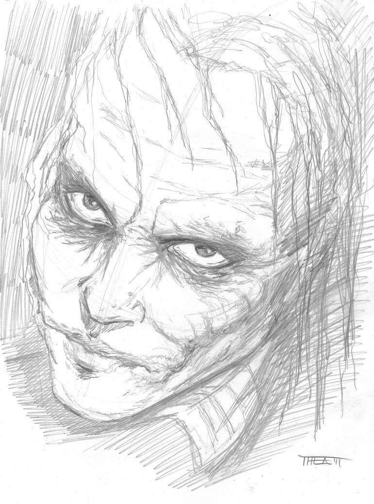 Heath Ledger's Joker by Theamat