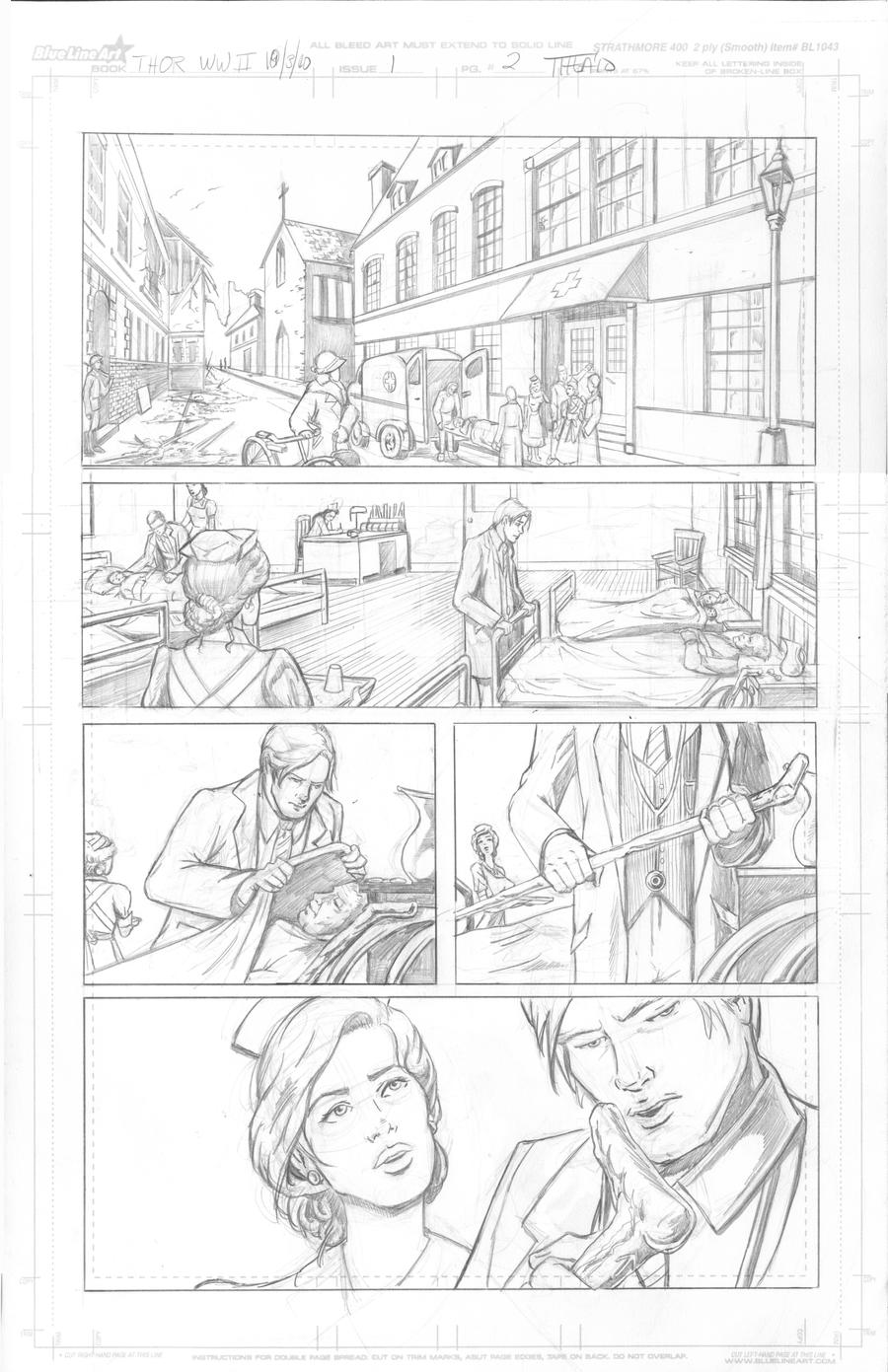 Thor Page 2 Pencils by Theamat