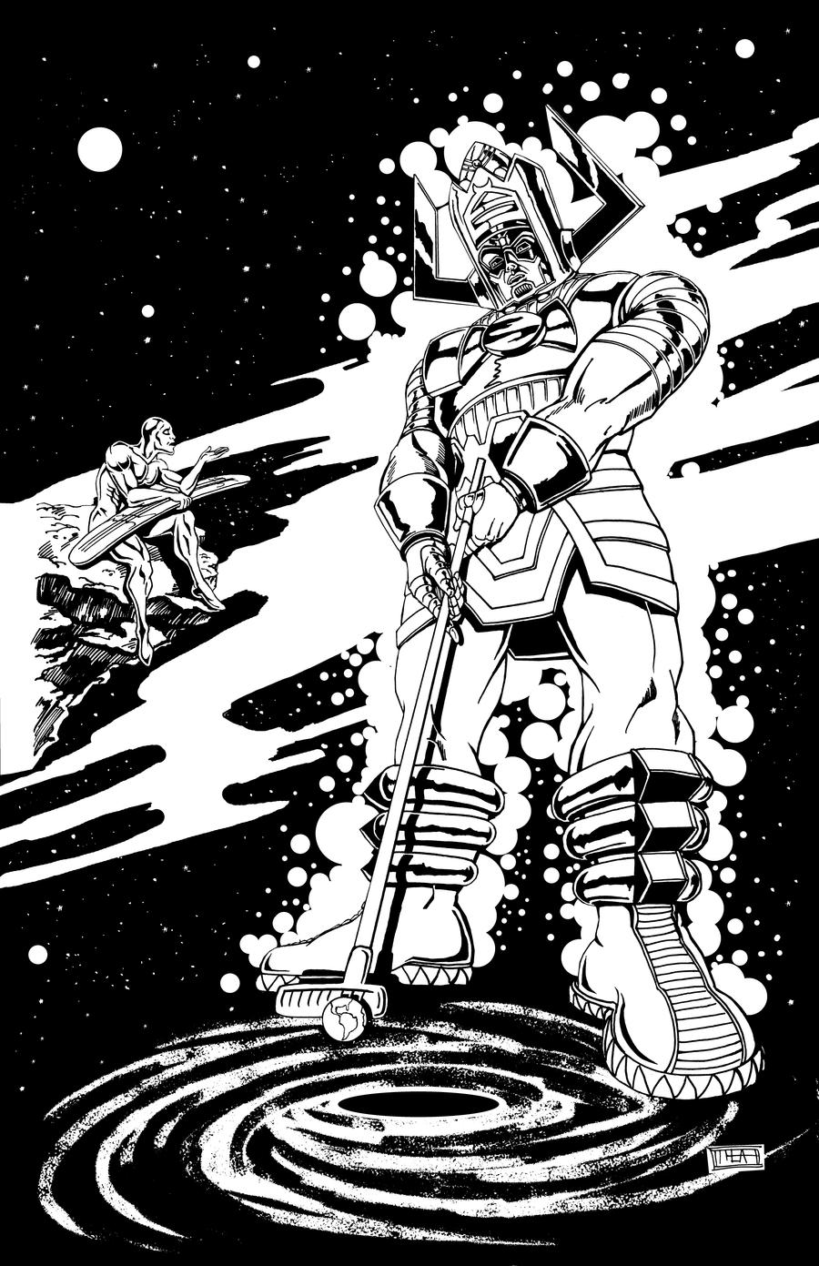 Galactus Plays Minigolf INKS by Theamat