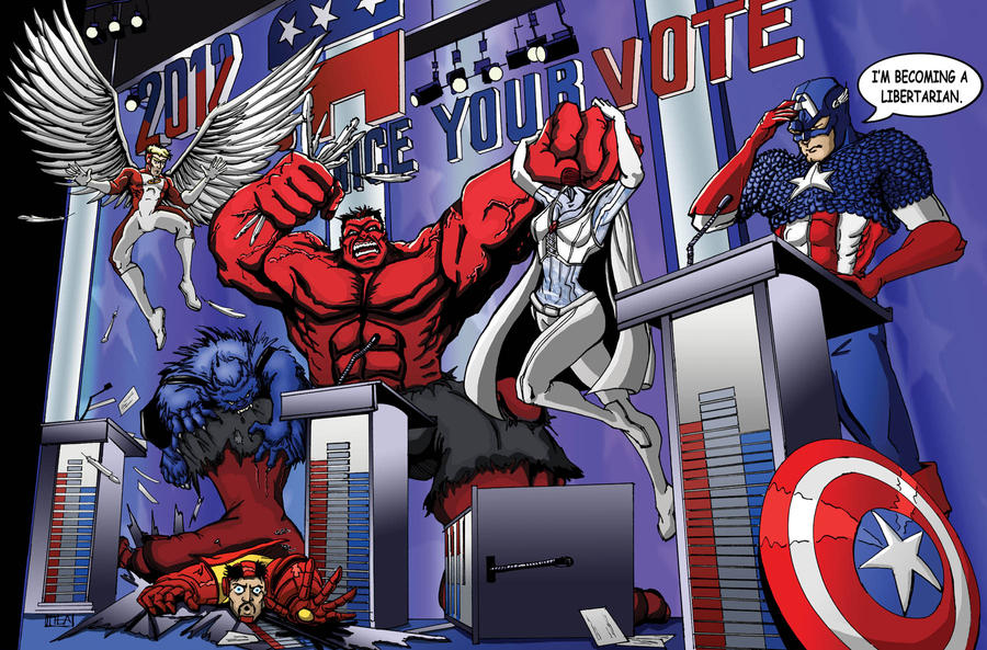 Avengers VS X-Men: GOP Debate by Theamat