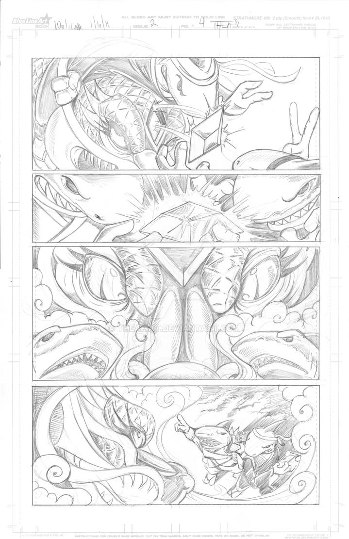 Snowmanilas #3, Page 4 PENCILS by Theamat