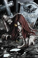 Jean Grey/Resurrection Man by Theamat