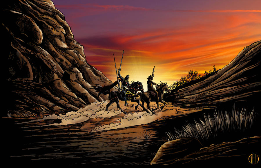 Jonah Hex and the Black Knight by Theamat