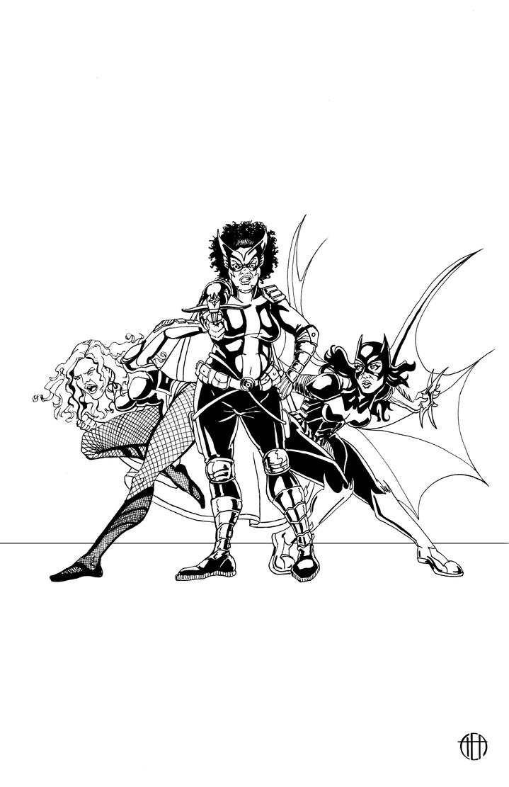 Community Birds of Prey - INKS by Theamat