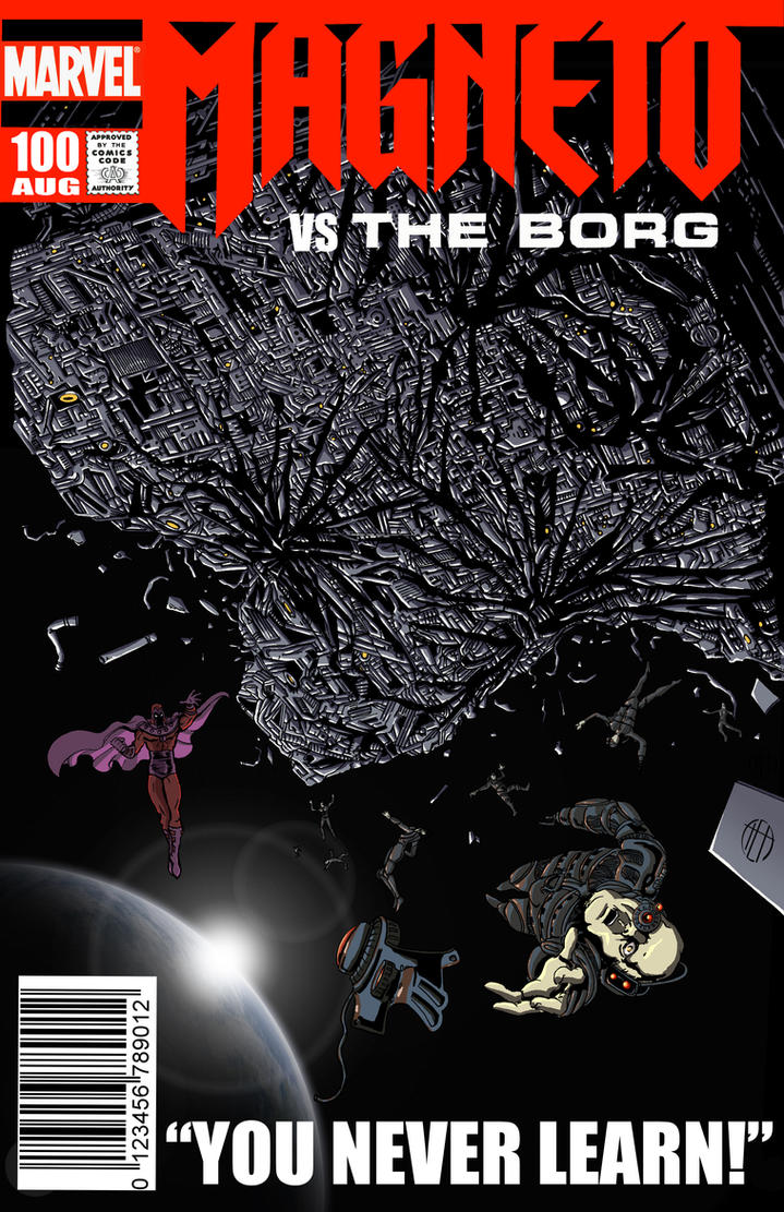 Magneto vs The Borg by Theamat