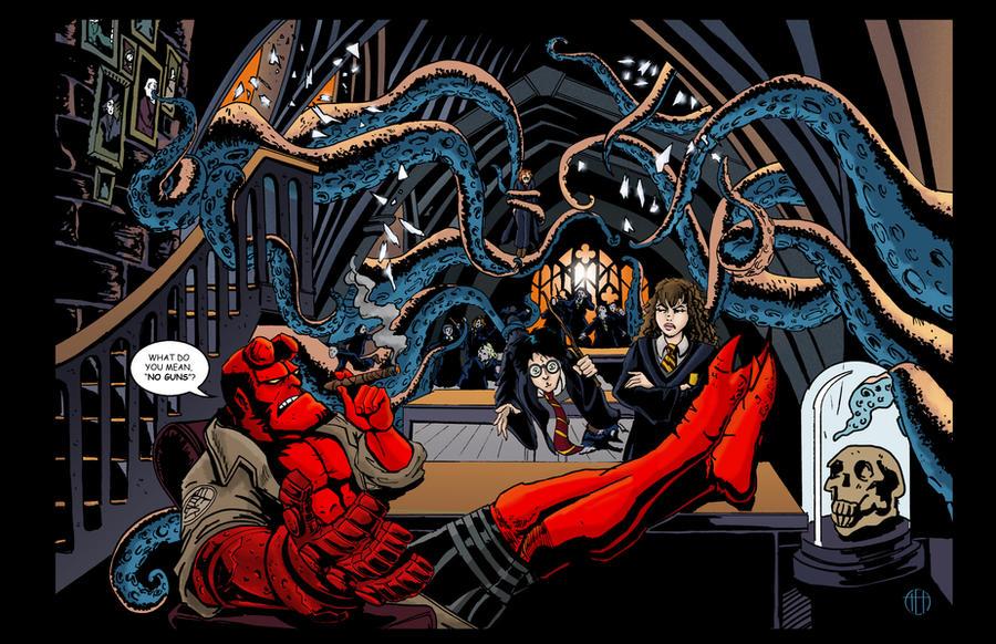 Professor Hellboy by Theamat