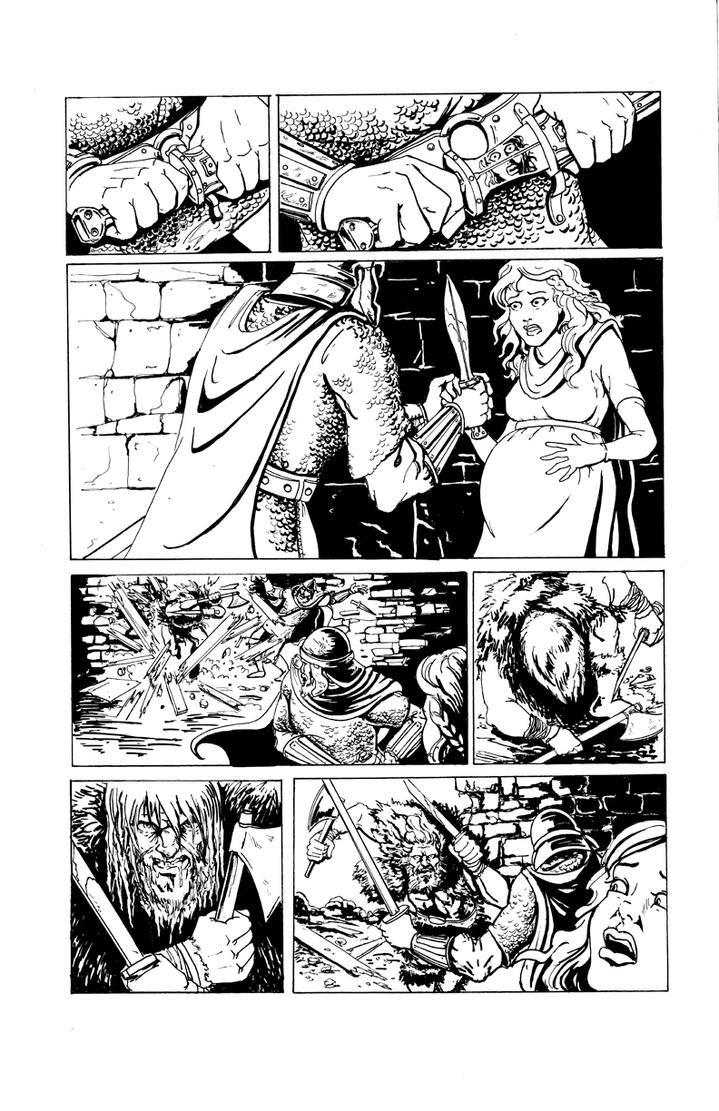 DARK AGE #1, Sample Page 3 by Theamat