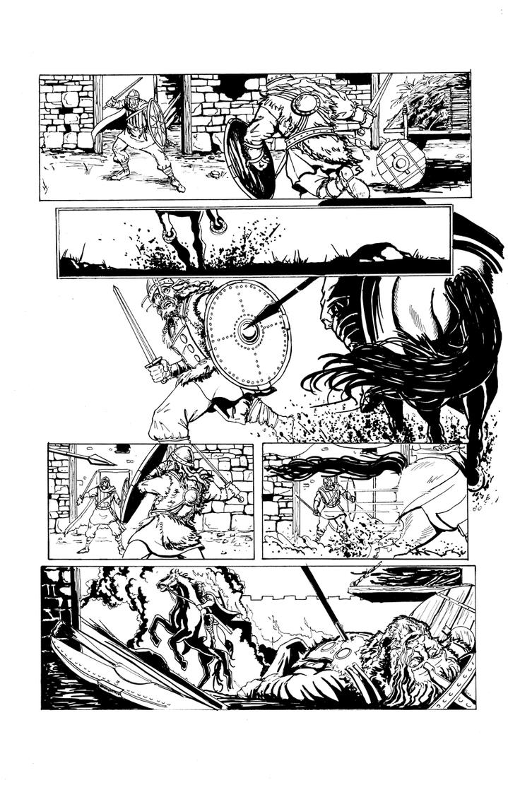 DARK AGE #1, Sample Page 4 by Theamat