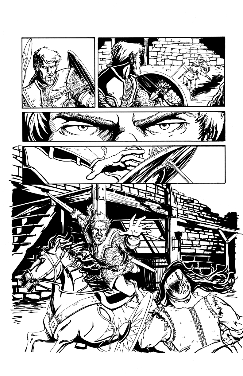 DARK AGE #1, Sample Page 5 by Theamat