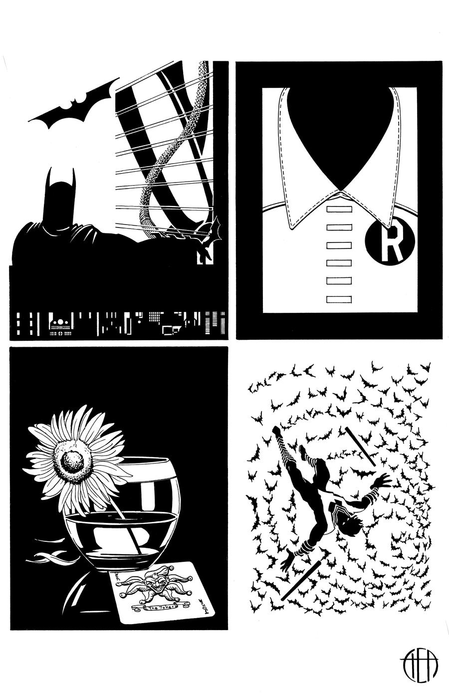 Batman/Mad Men - INKS by Theamat