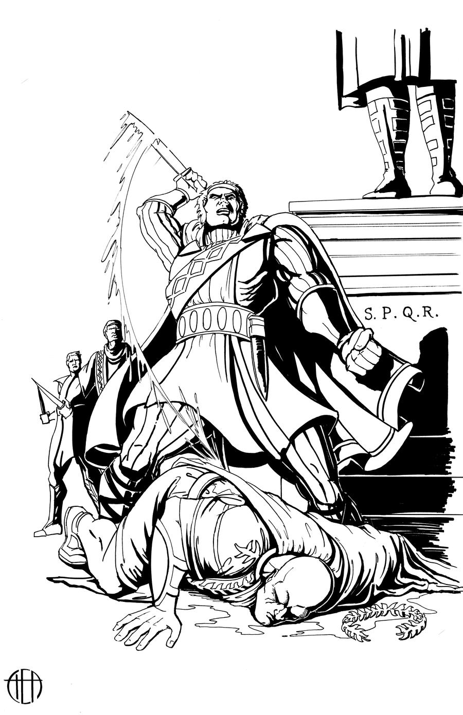 Jack Kirby's Julius Caesar - INKS by Theamat