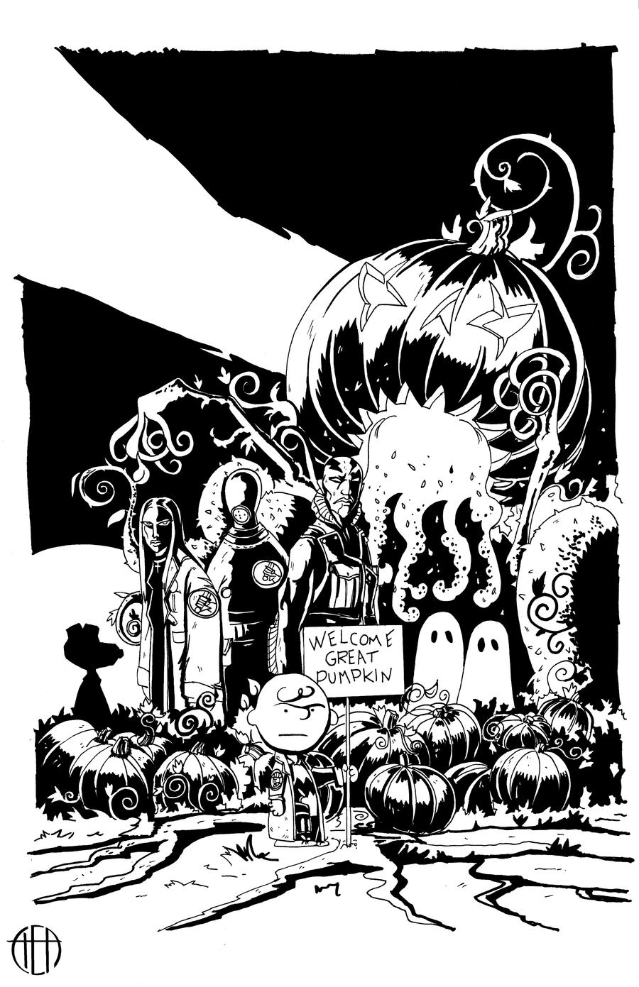 B.P.R.D.: The Great Pumpkin - INKS by Theamat
