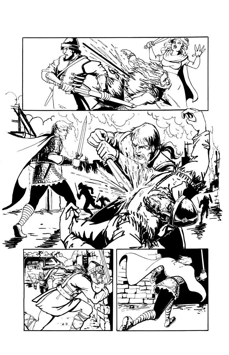 DARK AGE #1, Sample Page 7 by Theamat