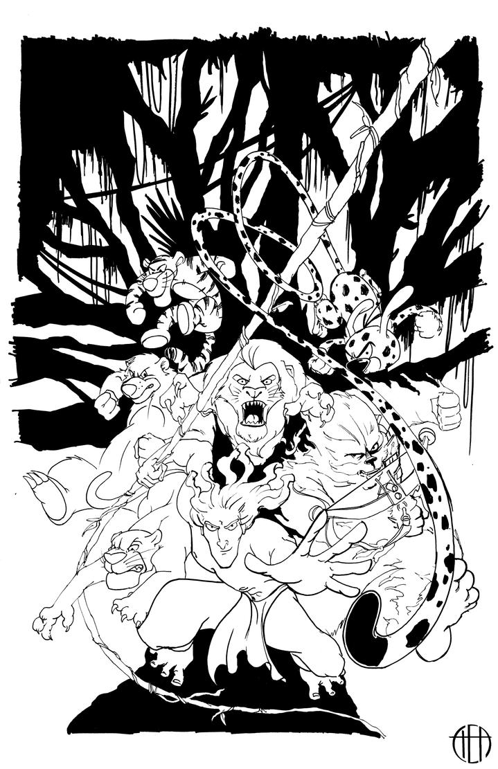 Jungle Force - INKS by Theamat