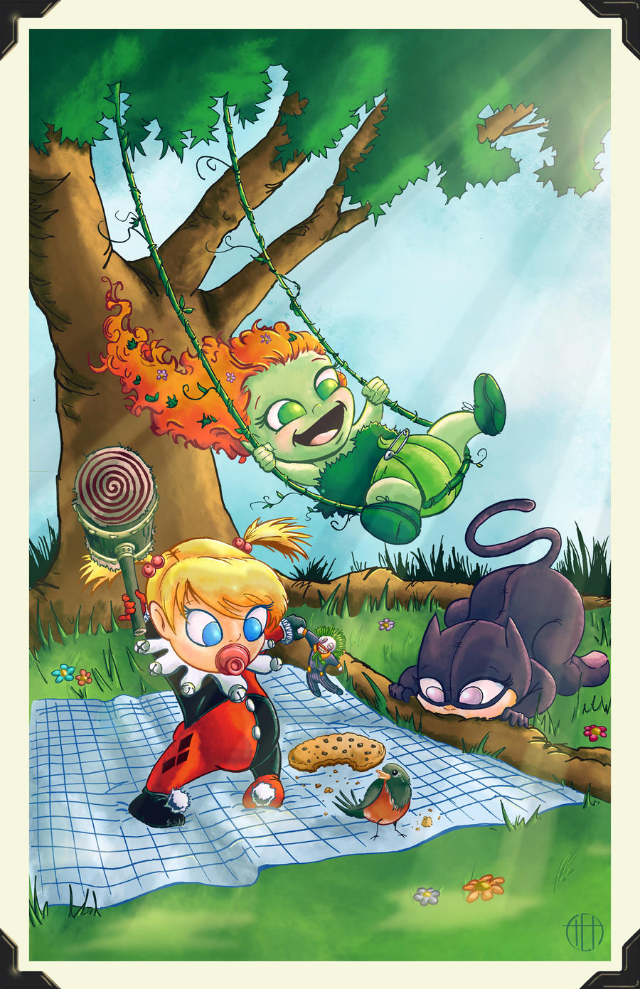 Li'l Gotham City Sirens by Theamat